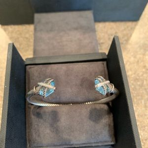 David Yurman Cable Wrap Bracelet with diamonds